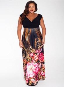 10 Nuevos modelos de vestidos de fiesta para gorditas con flores (4)
