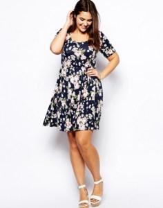 10 Nuevos modelos de vestidos de fiesta para gorditas con flores (7)