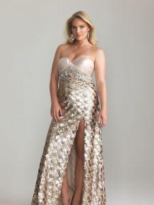 11 Modelos de vestidos brillantes para gorditas (5)