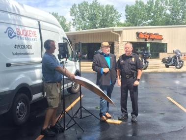 Ken and Chief Kral filming the commercial.