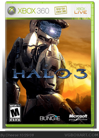Halo 3 Xbox 360 Box Art Cover by Cheese