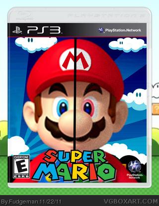Super Mario PlayStation 3 Box Art Cover by Fudgeman