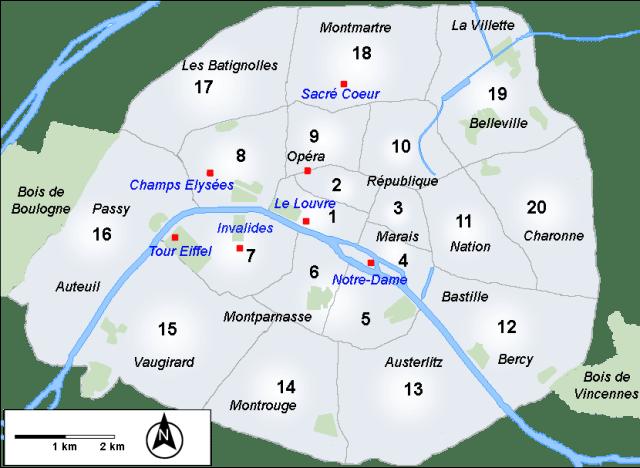 Paris_Arrondissements-de-Paris_Viajando bem e barato