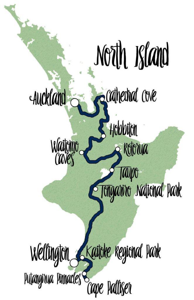 ruta por Nueva Zelanda