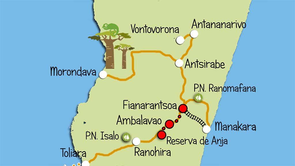 mapa ambalavao