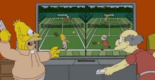 Jugando tenis