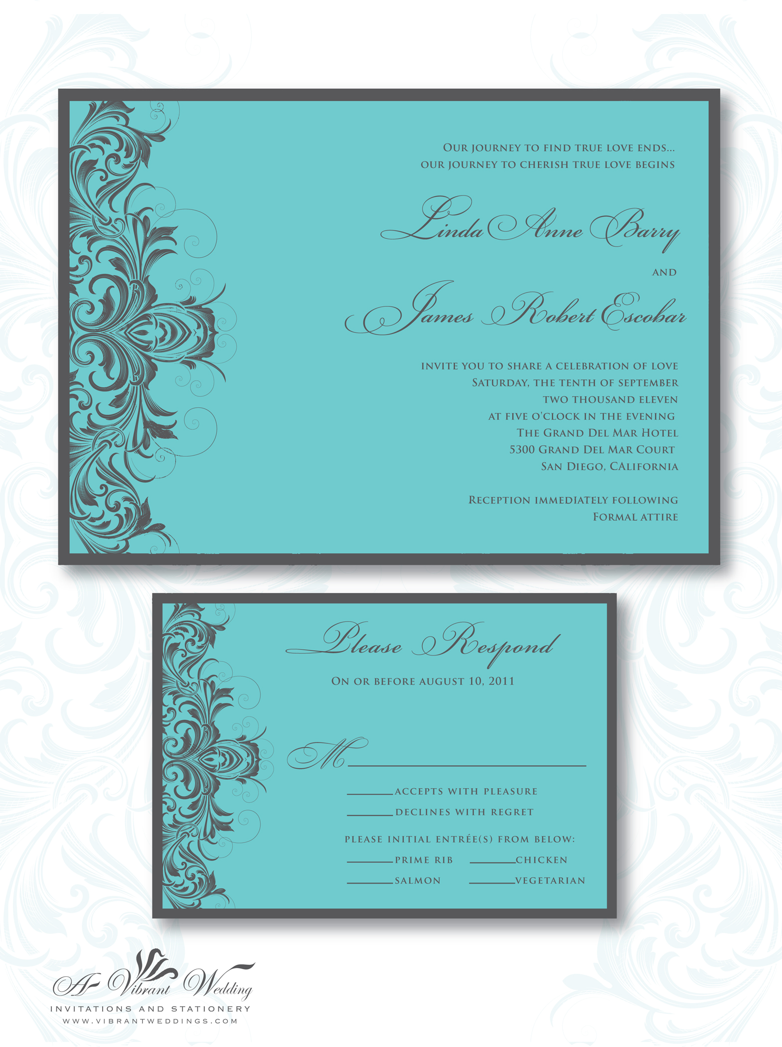 tiffany blue and grey wedding invitation tiffany blue wedding invitations Turquoise and Grey Wedding Invitation
