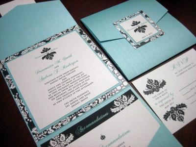 Turquoise wedding invitation – A Vibrant Wedding