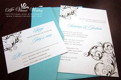 tiffany blue wedding invitation – A Vibrant Wedding