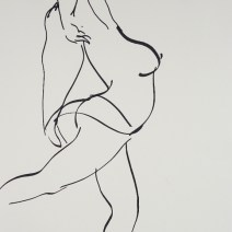 Nude Drawing, 36 x 24 inches, charcoal on newsprint