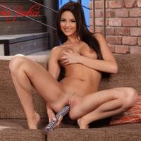 Nude Victoria having fun on the couch with her biggest dildo - fans are going to love this episode of her show!