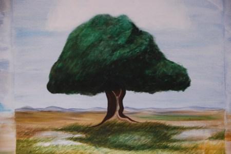 arbol pintado