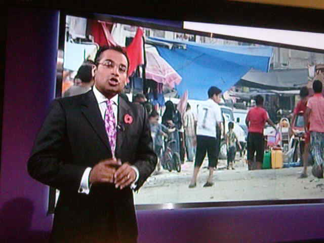 Krishnan Guru-Murthy introducing Going for Gold in Gaza at end of Channel 4 News.