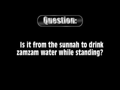 Drinking zamzam water while standing – al-Albaani