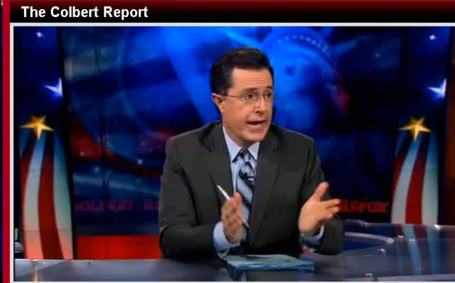 Comedy Central The Colbert Report Stephen Colbert CNN Layoffs 112811