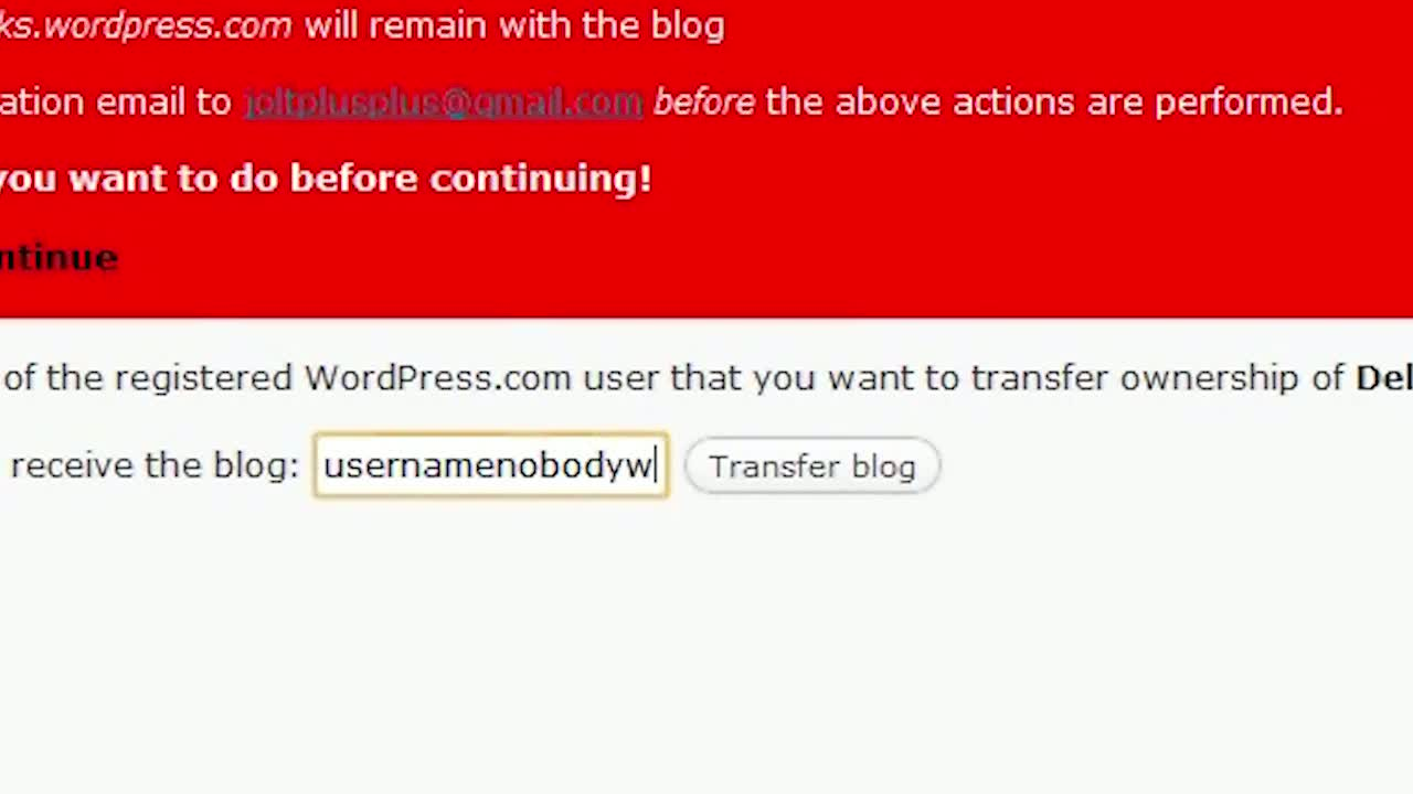 WordPress.com: Transferring A Blog
