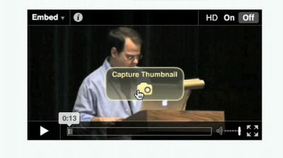 VideoPress: Selecting a Thumbnail