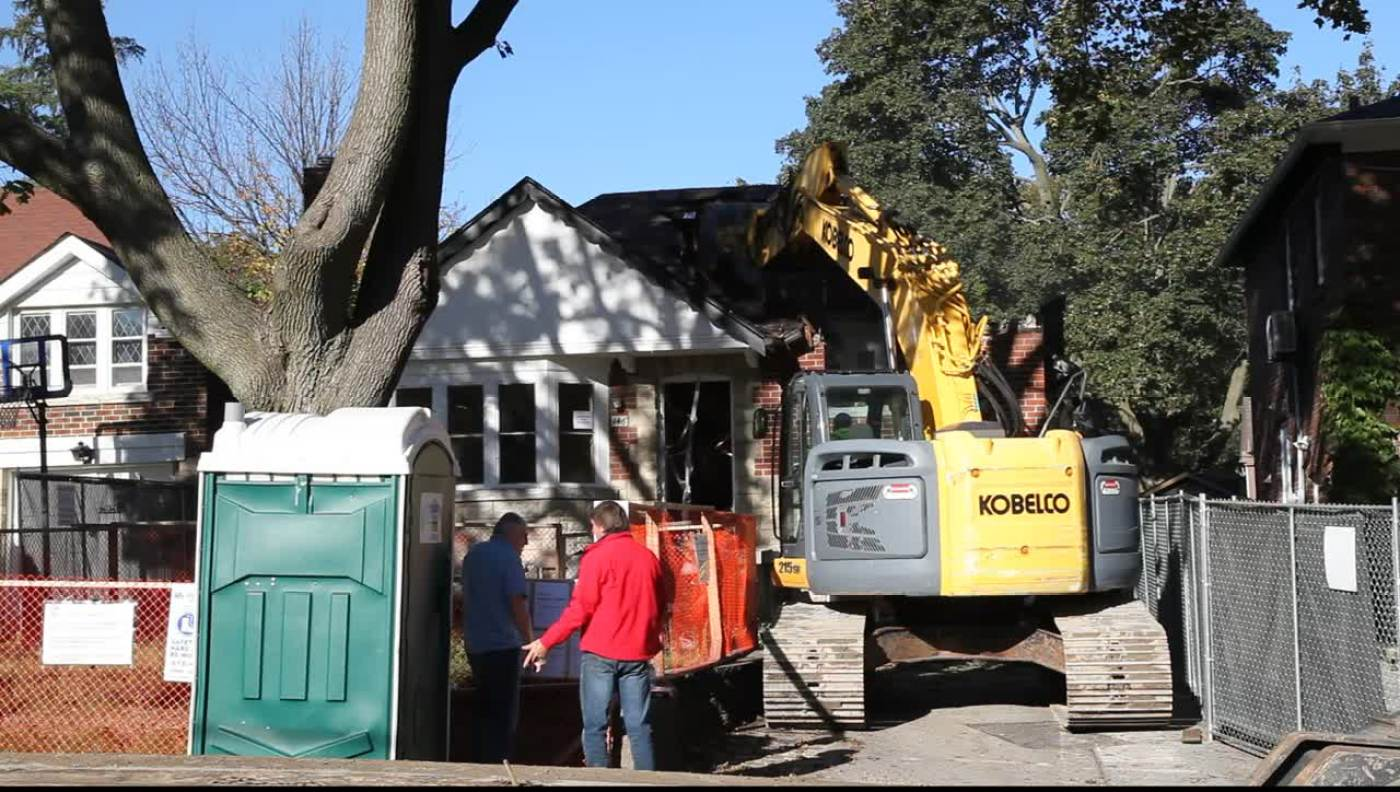 Bungalow Demolition in Leaside