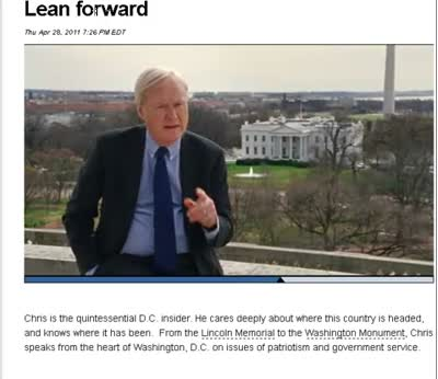 MSNBC Hardball Chris Matthews Lean Forward