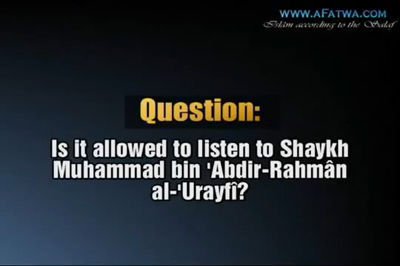 Shaykh Ahmad an-Najmî about al-Arifi- It is not allowed to listen to storytellers