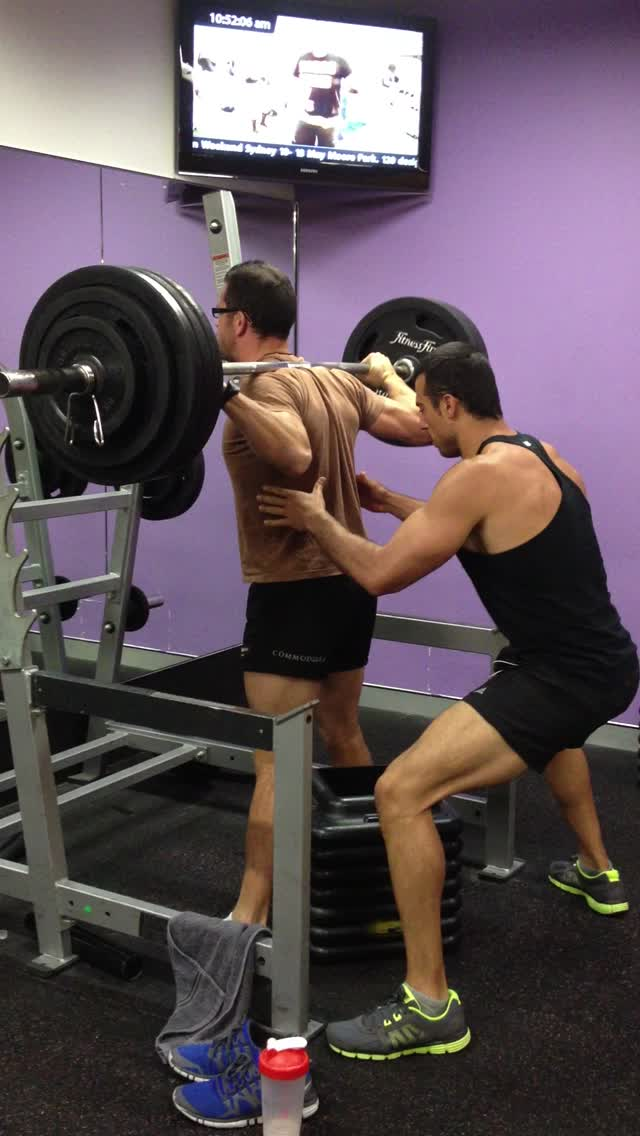 170kg high box squat for 1 rep