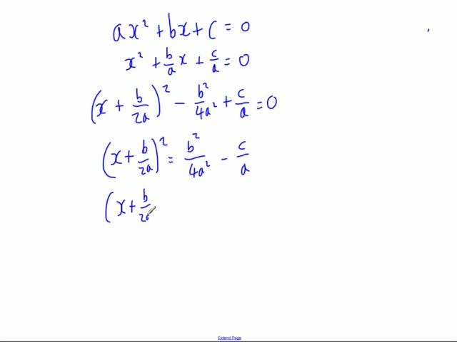 Proving the Quadratic Formula