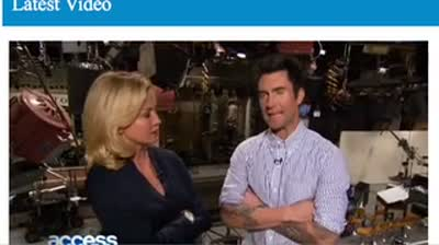 Adam Levine Interviews and Backstage at SNL January 2013