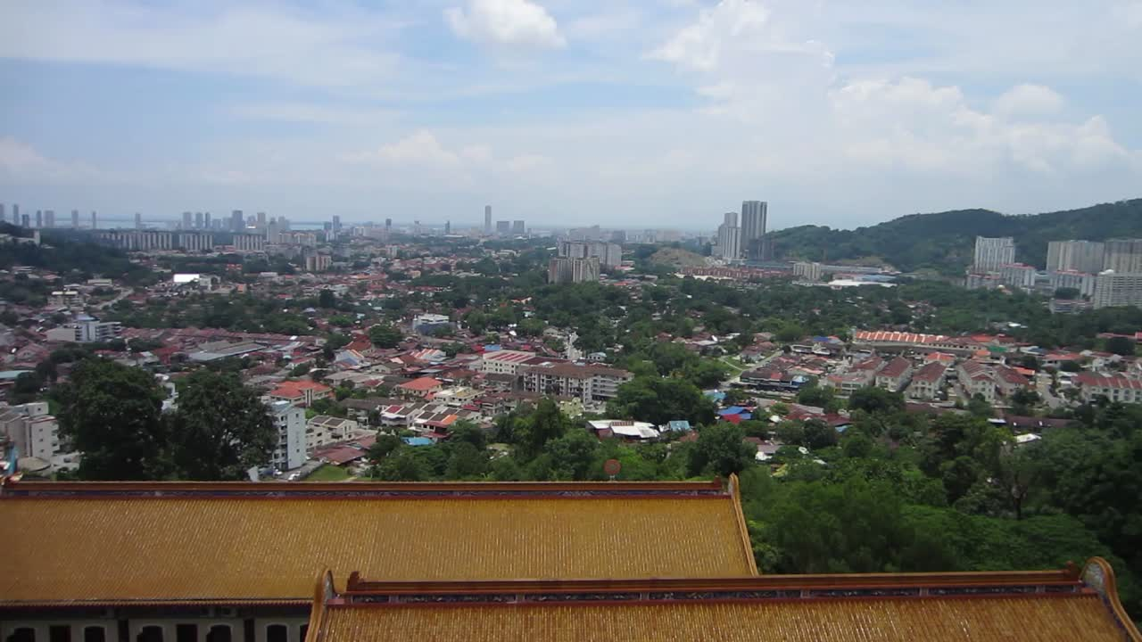 View of Penang from atop Kek Lok Si