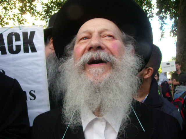 An interview with the Neturei Karta outside Downing Street. 21/9/11 (www.richardmillett.wordpress.com)