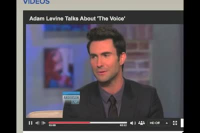 Adam Levine on Anderson Live October 2012(0)