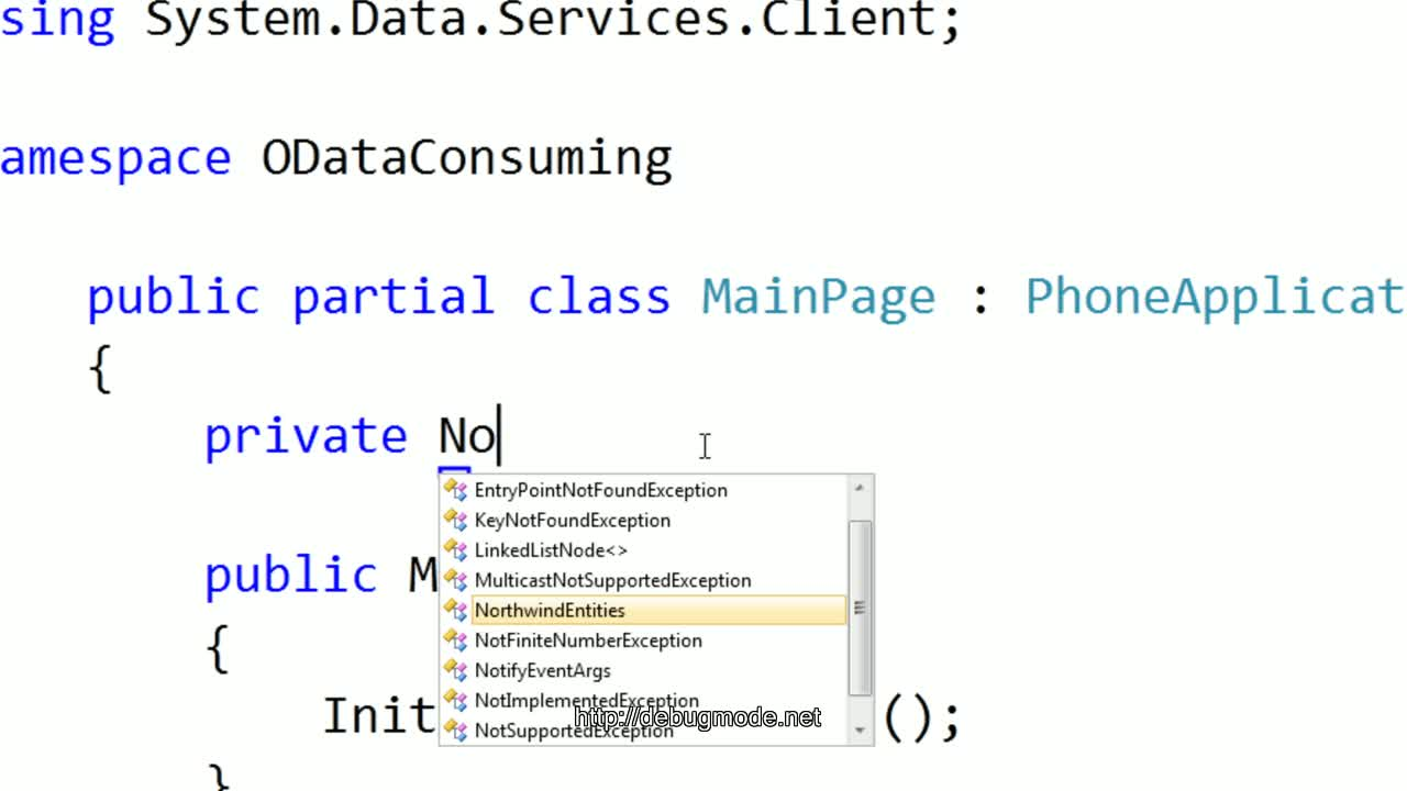 Consuming ODATA in Windows Phone 7