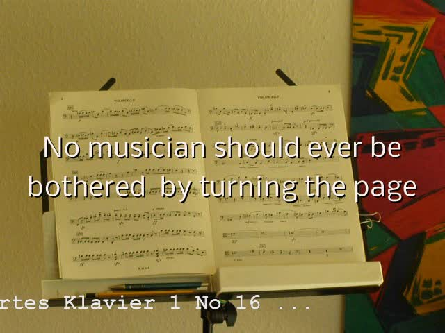 A page turner fore every musician