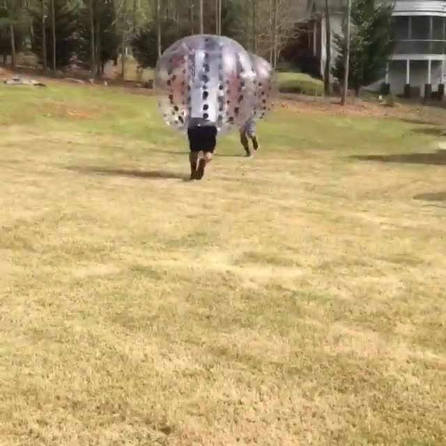 Cam Newton Playing Knockerball