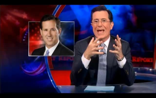 Stephen Colbert Returns with Laughs on Romney C 03-26-12