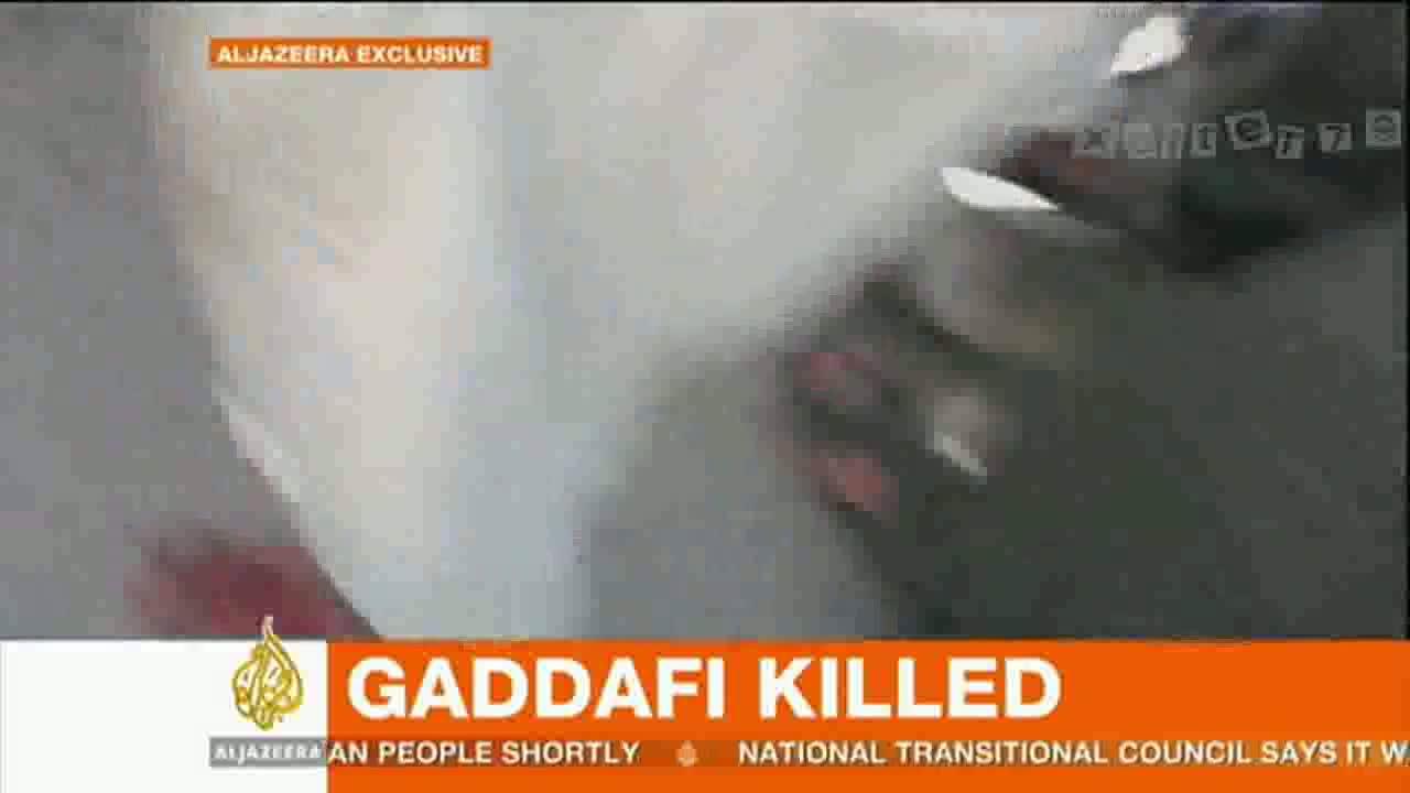 (18+) Al Jazeera_ Muammar Gaddafi dead – video