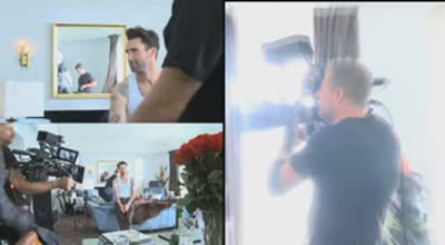 Adam Levine KMart Holiday Commercial backstage[1]