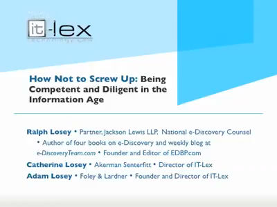 How Not to Screw Up – IT Lex presentation