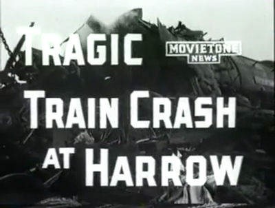 Harrow and Wealdstone Train Crash Newsreel