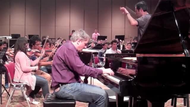 Rehearsal in Paipa, Colombia