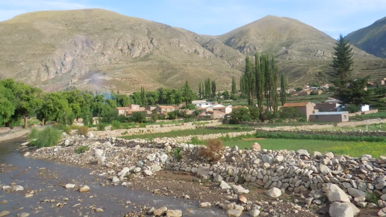 The village of Cayara, Potosi, Bolivia