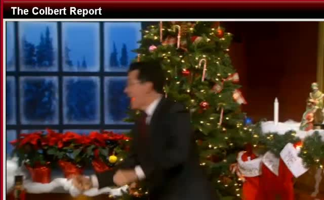 Comedy Central The Colbert Report -Goodbye for 2011- MERRY CHRISTMAS