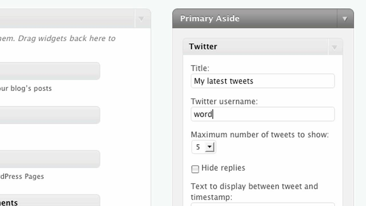 Adding Twitter to your Sidebar – Self Hosted Edition