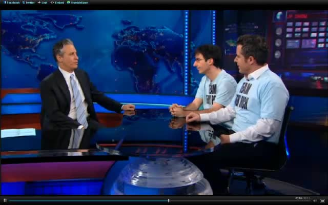Jon Stewart on Mitt Romney + Newt Gingrich's Fantasy (end)