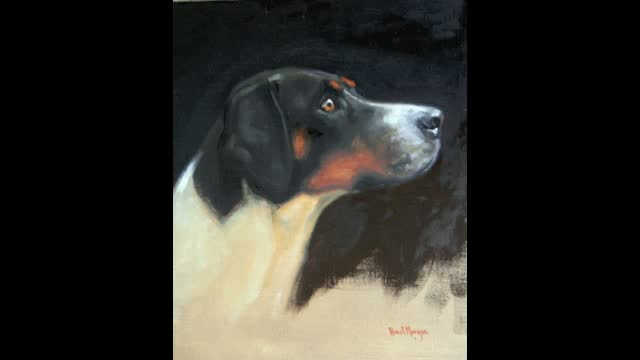 "Hazel Morgan ""Study of a Wilton Hound"""