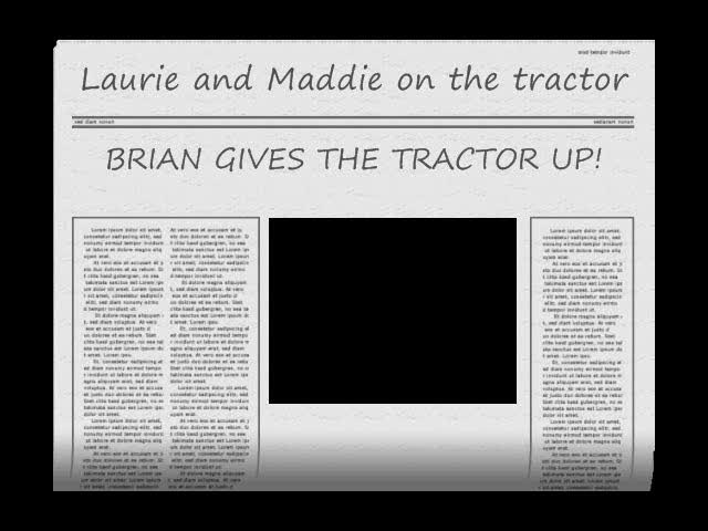 Laure and Maddie on the Tractor