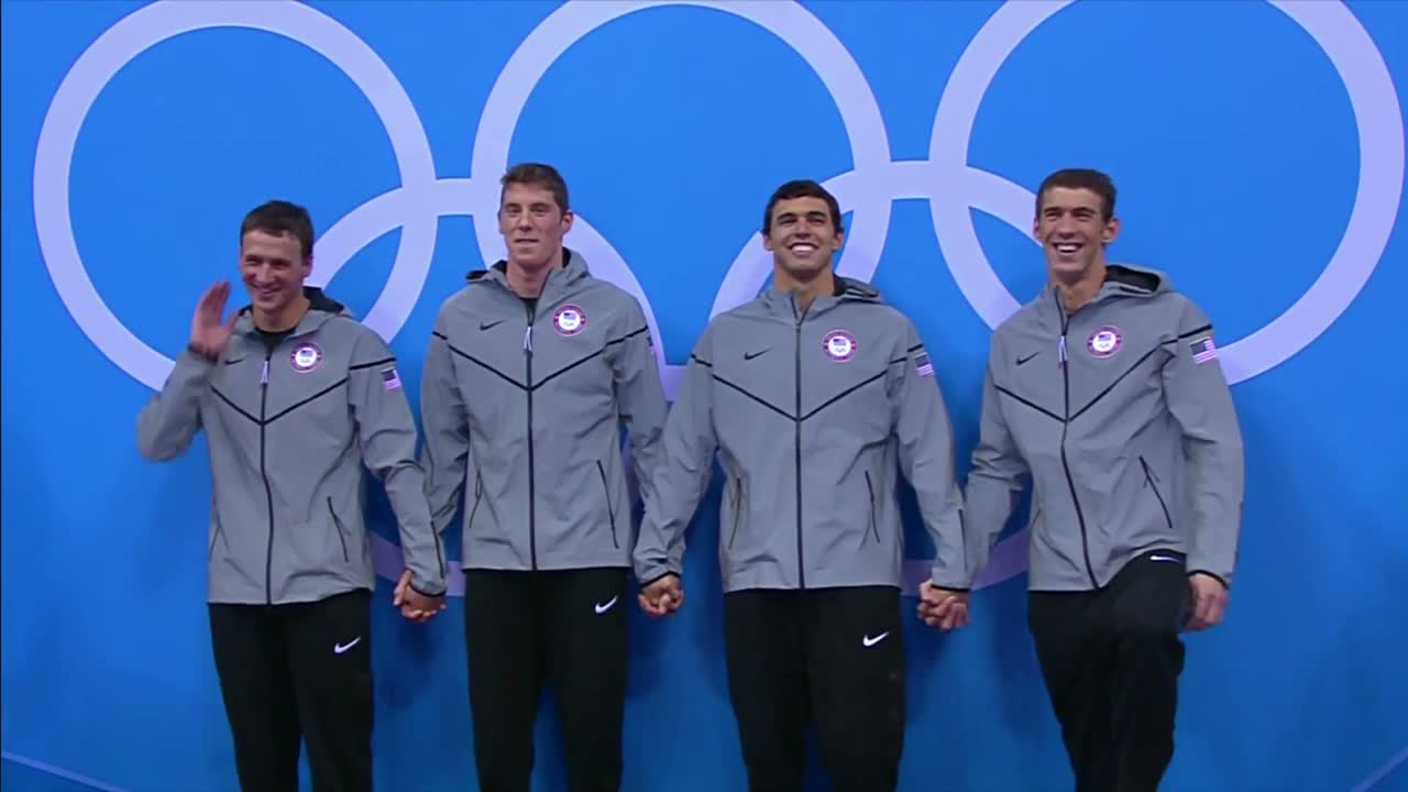 Michael Phelps' 19th Medal Ceremony 2012 Olympics