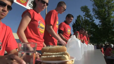 NY Johnny&#8217;s hotDog Eating Competition 2011!