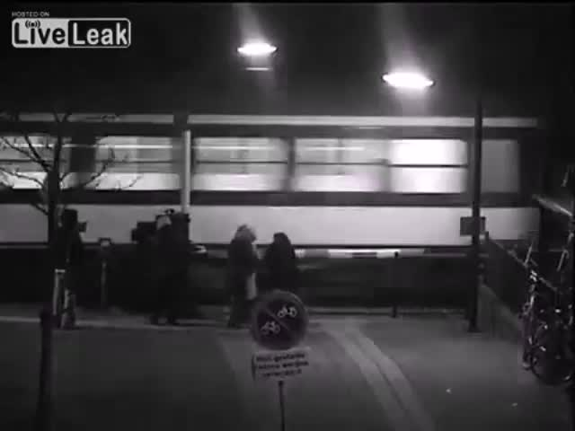 Train Almost Kills Woman