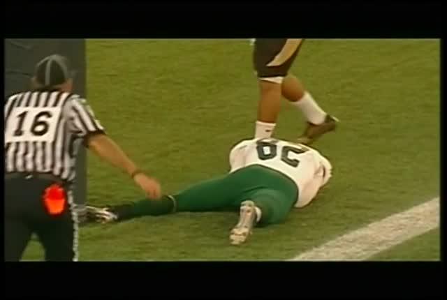 Rams endzone Collision