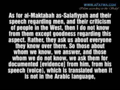 Shaykh Muhammad ibn Hadi al-Madkhali on Spubs.com, madeenah.com and jarh wa tadil